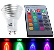 Faretti 1 LED ad alta intesità YouOKLight G50 GU10 3 W Controllo a distanza / Decorativo 260 LM Colori primari 1 pezzo AC 85-265 V