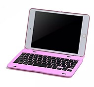 For Case Cover with Keyboard Flip Full Body Case Solid Color Hard PC for iPad Mini 4