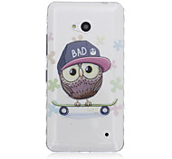 Owl Skateboard Pattern Material TPU Phone Case for Nokia N640
