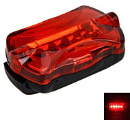 Bicycle Cycling Laser Tail Light 5 LED 7 Modes Mountain Bike Safety Warning Rear Light With Holder