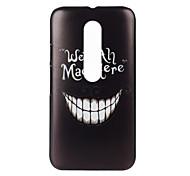 Smiling Teeth Pattern PC Hard Cover Case for Motorola MOTO G3 3rd Gen