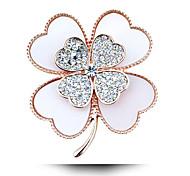 diamante acrílico broche de trevo
