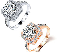 The Romantic Square Shape Diamond Ring