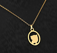 European  fashion personality titanium steel gold pattern necklace 3- birds  Wedding / Party / Daily / Casual 1pc