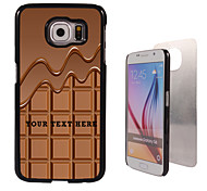 Personalized Case - Chocolate Design Metal Case for Samsung Galaxy S6/ S6 edge/ note 5/ A8 and others