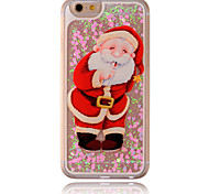 Santa Claus Flow Sand PC Material Cell Phone Case for iPhone 6/6S