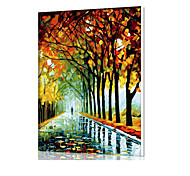 DIY Digital Oil Painting  Frame Family Fun Painting All By Myself  Autumn Rain Road X5043