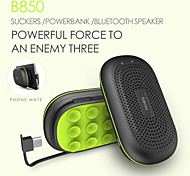 Power speaker Mini Portable 3000mAh powerbank Wireless Bluetooth Speaker Power Bank With MIC Sucking Disc Bracket