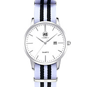 AIBI® Men's Fashion Watch Calendar Water Resistant Fabio New York Silver Wrist White Watch For Men Wrist Watch Cool Watch Unique Watch With Watch Box