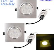 5W Einbauleuchten 5 High Power LED 450 lm Warmes Weiß Dekorativ AC 85-265 V 2 Stück
