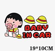 divertido maruko baby-chi bi en etiqueta engomada del coche del coche ventana del coche estilo pared coche calcomanía