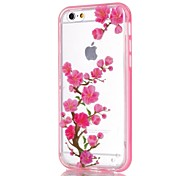 2-in-1 Plum Pattern TPU Back Cover with PC Bumper Shockproof Soft Case for iPhone 5/5S