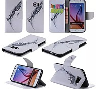 Leaf Style Pattern Phone Leather For Samsung Galaxy S6