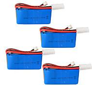 rc 1500 mah batteria 2 s 7.4 v elicottero di telecomando 7.4 v batteria al litio el - 2 p spina 4 pezzi