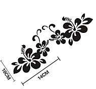 Funny Flowers Car Sticker Car Window Wall Decal Car Styling 2PCS