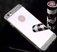 Diamond Crystal Rhinestone Mirror TPU Soft Gel Skin Cover for iPhone 6 Plus/6S Plus(Assorted Colors)