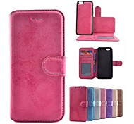 High Quality Crazy Horse Pattern PU Leather Cover for iPhone 6S/6 (Assorted Colors)