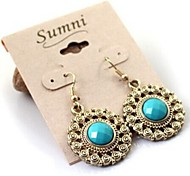 Top Sale Bohemia Vintage Wholesale Women Alloy Round Drop Earring