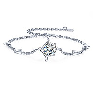 Glossy Silver Beads Bracelet Christmas Gift
