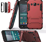 War Silica Gel PC Combo Bracket Models Armor Protection Phone Case for Samsung Galaxy J1//J2/J5/J7(Assorted Colors)