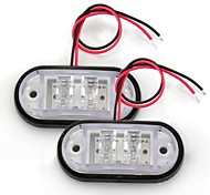 """2 Car Truck Trailer Piranha LED Side Marker Blinker Light Lamp Bulb White"""