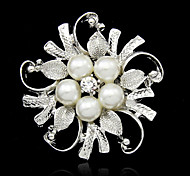 Beautiful Alloy And Imitation Pearl Brooches