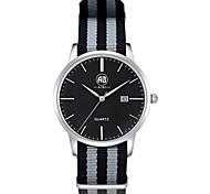 AIBI® Men's Fashion Watch Calendar Water Resistant Fabio New York Silver Grey Wrist Watch For Men Cool Dress Watch Unique Watch With Watch Box
