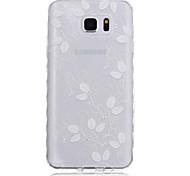 Nuove foglie modello onde scivolano maniglia TPU soft phone per Samsung Galaxy Note 5/4/3