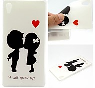 I Will Grow Up Words Phrase Pattern 0.6mm Ultra-Thin Soft Case for Sony Xperia Z4