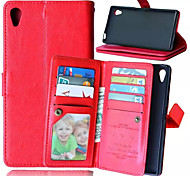 High Quality PU leather Wallet Mobile Phone Holster Case For Sony Xperia Z5(Assorted Color)