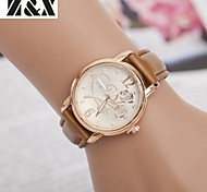 Women's Fashion Diamond Rose Quartz Analog Sillicon Watch(Assorted Colors)