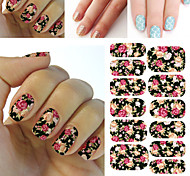 1pcs Stiker Nail Art Decals Untuk DIY UV Gel Polish Nail, Tips Kuku Stiker