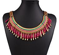 Women's Vintage Resin Tassel Necklace