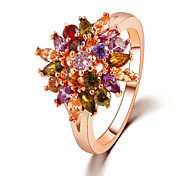 The Colorfull Sunflower Ring Promis rings for couples