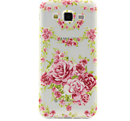 Chinese Rose Pattern TPU Phone Case for Samsung Galaxy J2/J5/G360/G530