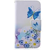 Butterfly Pattern PU Leather Material Flip Card  for Samsung Galaxy Grand Prime/ Core Prime/J1 Ace/J1/J2/J3/J5/J7