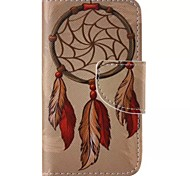 Orange Dreamcatcher Painted PU Phone Case for iphone4/4S