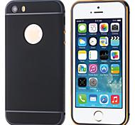 tampa e pára-choques 2-em-1 luxo metal híbrido de alumínio magro caso armadura rígido de volta para o iphone 5 / 5s (cores sortidas)