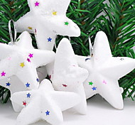 Foam Pentagram Upscale Luxury Christmas Tree Decorations Supplies Party Decorative Crafts(6PCS)