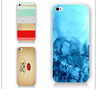 cas motif coloré PC Phone couverture arrière cas pour iphone5c