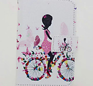 Bike Girl Painted PU Phone Case for iphone 6/6S