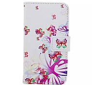 Colorful Butterfly Painted PU Phone Case for Huawei Honor 7