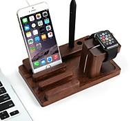 apple iphone Uhr und Multifunktionsladeholzständer Halterung Keeper drahtlose Ladestation