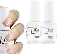 LIBEINE 1set(Color 001 + Base Coat+ Top Coat) 3PCs Soak Off 15 ML UV Gel Nail Polish Color Gel Polish