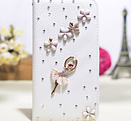 Luxury Set Drill Handmade Diamond 3D PU Leather Full Body Case with Kickstand and Card Slot for iPhone 5/5S