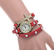 Women's Watch L.WEST Fashion Three Times The Cross Diamonds Belt Quartz Watch Cool Watches Unique Watches