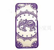 patrón de elefante caja del teléfono material de la PC de impresión en relieve calado para el iphone 6 6s / iphone (colores surtidos)