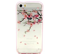 2-in-1 Petal Pattern TPU Back Cover with PC Bumper Shockproof Soft Case for iPhone 5/5S