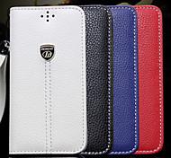 líneas li tiran automáticamente placa cartera de cuero del soporte para el iphone 5 / 5s (colores surtidos)