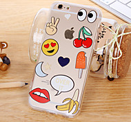 The New Emoticons Transparent Acrylic Cases for iPhone 6 Plus/iPhone 6S Plus(Assorted Colors)